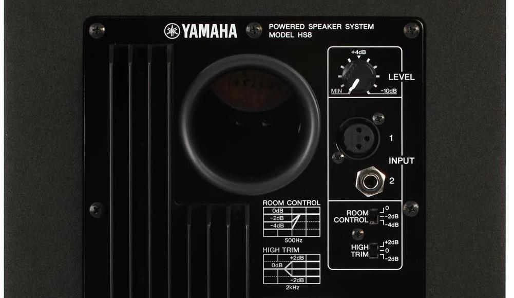 Yamaha HS8 Back - Room Control and High Trim