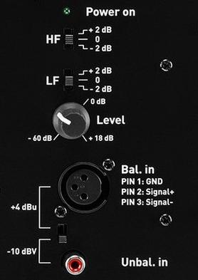 ADAM Audio T7V Back Panel